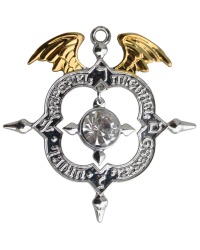 Winged Archangel Shield Amulet Kaballah Necklace Mystic Convergence Metaphysical Supplies Metaphysical Supplies, Pagan Jewelry, Witchcraft Supply, New Age Spiritual Store