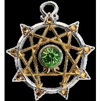Enneagram Kaballah Amulet Necklace