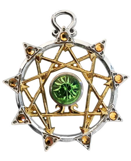 Enneagram Kaballah Amulet Necklace at Mystic Convergence Metaphysical Supplies, Metaphysical Supplies, Pagan Jewelry, Witchcraft Supply, New Age Spiritual Store