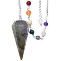 Labradorite and Chakra Scrying Pendulum