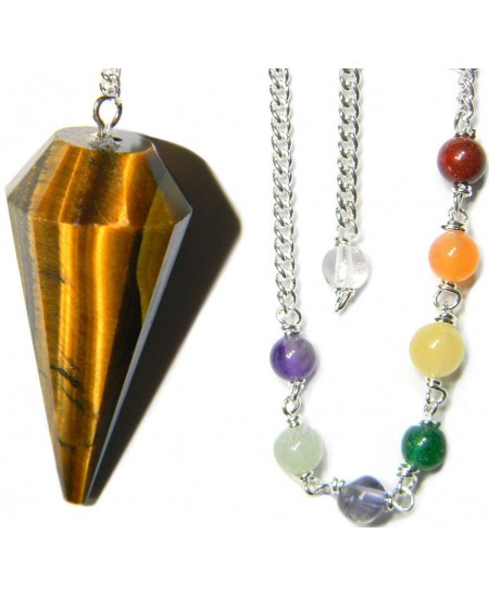 Tigers Eye Chakra Scrying Pendulum at Mystic Convergence Metaphysical Supplies, Metaphysical Supplies, Pagan Jewelry, Witchcraft Supply, New Age Spiritual Store