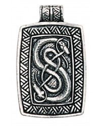 Loki Urnes Snakes Pewter Norse God Pendant Mystic Convergence Metaphysical Supplies Metaphysical Supplies, Pagan Jewelry, Witchcraft Supply, New Age Spiritual Store