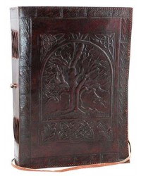 Tree of Life Leather 10 Inch Journal with Cord Mystic Convergence Wiccan Supplies, Pagan Jewelry, Witchcraft Supplies, New Age Store