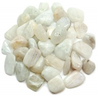 Rainbow Moonstone Tumbled Stones - 1 Pound Pack