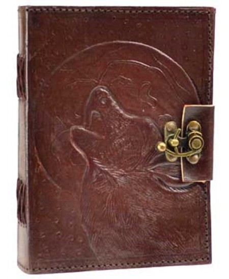 Wolf Moon Leather 7 Inch Journal with Latch at Mystic Convergence Magical Supplies, Wiccan Supplies, Pagan Jewelry, Witchcraft Supplies, New Age Store