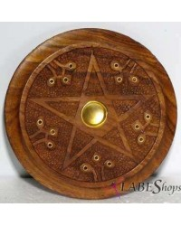 Wood Pentacle Incense Burner Mystic Convergence Metaphysical Supplies Metaphysical Supplies, Pagan Jewelry, Witchcraft Supply, New Age Spiritual Store