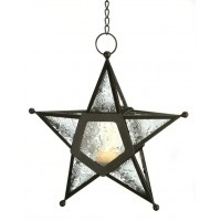 Star Hanging Lantern - Clear