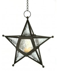 Star Hanging Lantern - Clear Mystic Convergence Metaphysical Supplies Metaphysical Supplies, Pagan Jewelry, Witchcraft Supply, New Age Spiritual Store