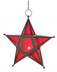 Star Hanging Lantern - Red Mystic Convergence Metaphysical Supplies Metaphysical Supplies, Pagan Jewelry, Witchcraft Supply, New Age Spiritual Store